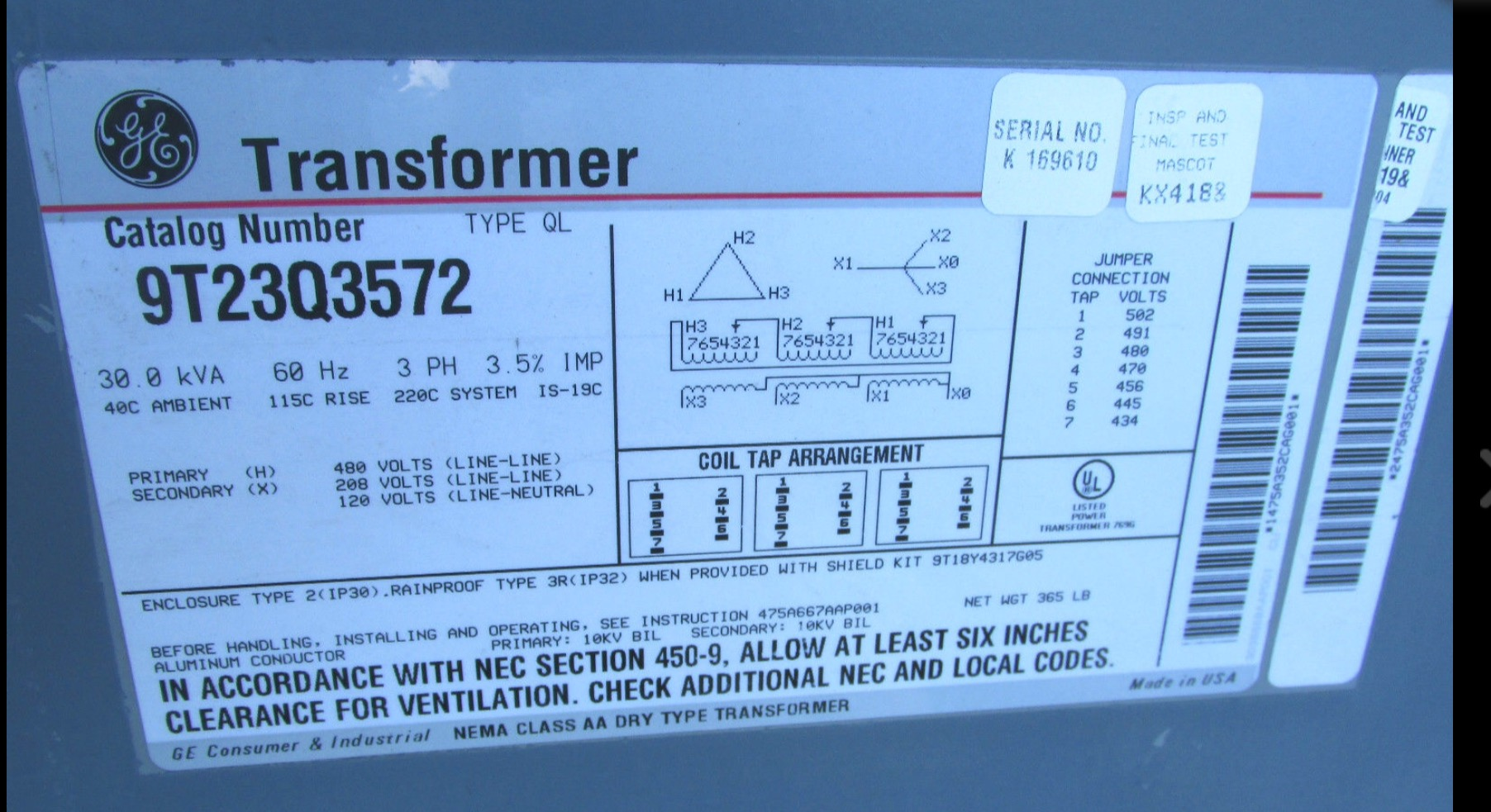 check my 480v 3 ph plan please Ge Dry Type Transformer Wiring i want to make sure i'm interpreting the 7 transformer terminals correctly i think x0 is where i connect ground both from the panel and to my loads, General Electric Dry Type Transformers